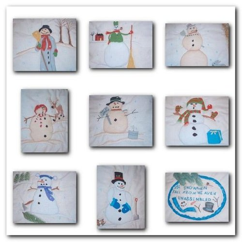 Old Fashion Snowmen Quilt - Iron on Transfer