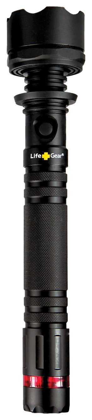Life Gear LG21-70004-BLA Highland LED Tactical Flashlight with Red Tail Emergency Flasher, 400-Lumens $48.99