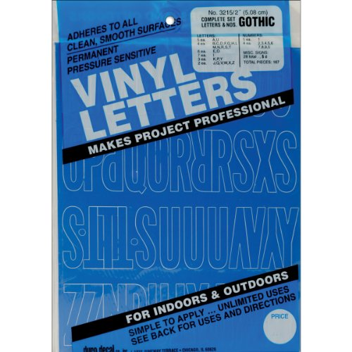 """Permanent Adhesive Vinyl Letters and Numbers 2""""-Gothic/Blue"""