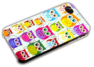 Apple iPhone 4/4S KLEINE Eule Owl Design Premium Schutz-Hülle Hard Case Schale thematys®