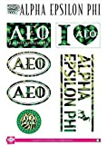 Alpha Epsilon Phi Sticker Sheet - Animal Print. 8.5
