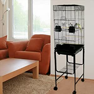 "Amazon.com : Kiko Kondo Double Bird Cage with Stand - 16""W x 14""D x 58"