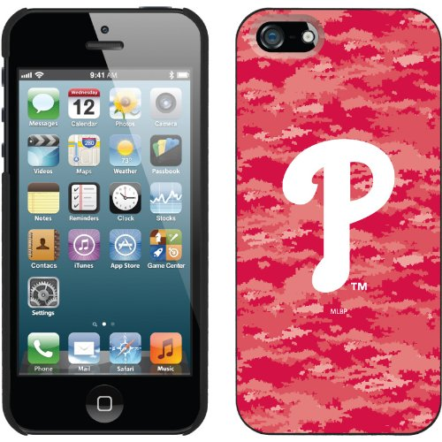Best Price Philadelphia Phillies - Digi Camo Color design on a Black iPhone 5s / 5 Thinshield Snap-On Case by Coveroo