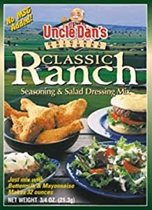 Uncle Dans Classic Ranch Dressing, 3/4-Ounces  (Pack of 8)