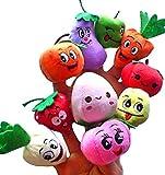 R-ESTILO ninos y muneca pretenden titere 10 piezas (verduras y frutas)