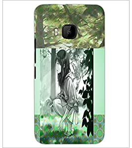 PrintDhaba Cute Girl D-4991 Back Case Cover for HTC ONE M9S (Multi-Coloured)
