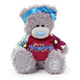 Me to You 6-inch Tatty Teddy Bear Wearing a You re Wonderful T-Shirt and Headband (Grey)