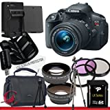 Canon EOS Rebel T5i DSLR Camera with EF-S 18-55mm f/3.5-5.6 IS STM Lens 32GB Package 6
