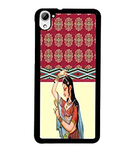 PrintDhaba Pattern D-3792 Back Case Cover for HTC DESIRE 826 (Multi-Coloured)