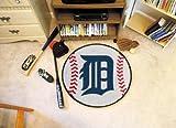 "Detroit Tigers 29"" Round Baseball Floor Mat (Rug)"