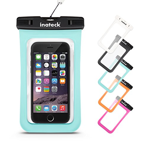 Inateck スマートフォン用防水ケース ストラップ付 防水保護等級 : IPx7