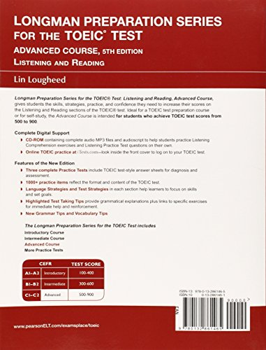 Longman Preparation Series for the TOEIC Test: Listening and Reading Advanced + CD-ROM W/audio W/o Answer Key