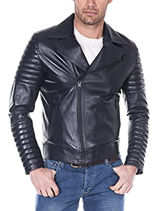 GIORGIO DI MARE Cazadora Piel Men'S Leather Jacket (Azul Marino)