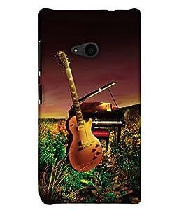 PrintHaat 3D Hard Polycarbonate Designer Back Case Cover for Microsoft Lumia 535 :: Microsoft Lumia 535 Dual SIM :: Nokia Lumia 535 (guitar lover :: guitar player :: Musical design :: Music note design :: Instrumental design :: Melody design :: Music rock design :: love playing on guitar)