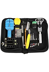Floureon Deluxe 144 Piece Watch Repair Tool Kit with Case