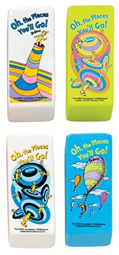 Dr. Seuss Oh The Places Beveled Eraser