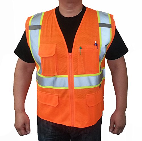 3c-products-class-2-reflective-safety-vest-5xl-neon-orange-with-green