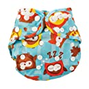 Bumkins Cloth Diaper Cover, Blue Owl, One Size