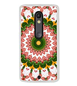 ifasho Animated Pattern design colorful flower in royal style Back Case Cover for Moto G3