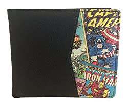 BB Designs Marvel Retro Comic Red Bi-Fold Wallet with Printed Details