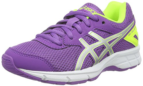 Asics Gel-Galaxy 9 Gs, Scarpe Running Unisex - Bambini, Multicolore (Orchid/Silver/Safety Yellow), 37.5 EU