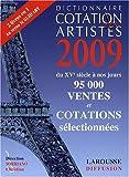 echange, troc Christian Sorriano, Collectif - Dictionnaire cotation des artistes 2009