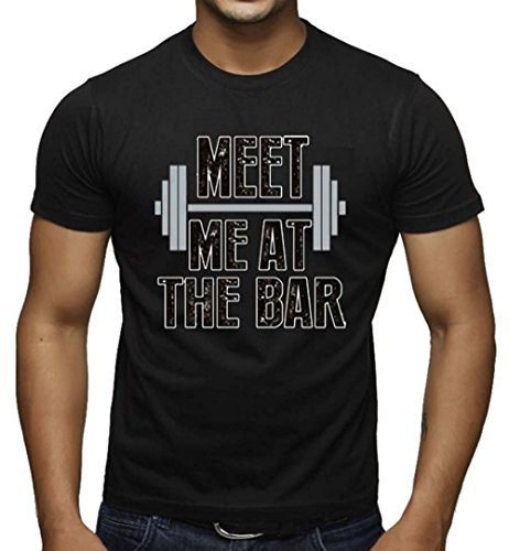Men's Meet Me At The Bar Workout T-Shirts Black XS-3XL (XL, Black) (Meet Me At The Bar compare prices)