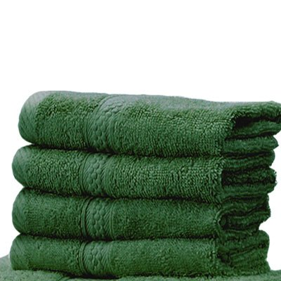 Linens Limited 100% Turkish Cotton 500gsm Face Cloth, Forest Green