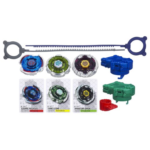 Beyblade Metal Fury Performance Top System Legendary Bladers Set(Discontinued by manufacturer) (Beyblade Pegasus 3 Pack compare prices)
