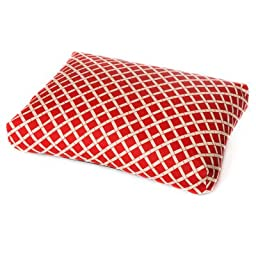 Bamboo Dog Pillow Color: Red, Size: Large (44\