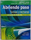 img - for Pearson - Abriendo paso: Temas y lecturas - Teacher's Guide book / textbook / text book