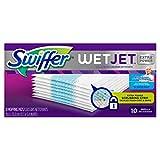swiffer wetjet hardwood floor spray mop pad refill extra power 10 count