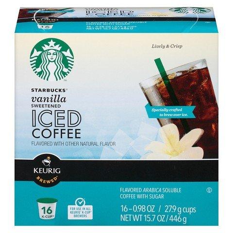 Keurig Starbucks Vanilla Sweetened Iced Coffee K-cup 16 Ct