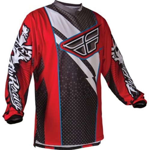 Fly Racing F-16 Youth Boys MX/Off-Road/Dirt Bike Motorcycle Jersey - Red/Black / X-Large