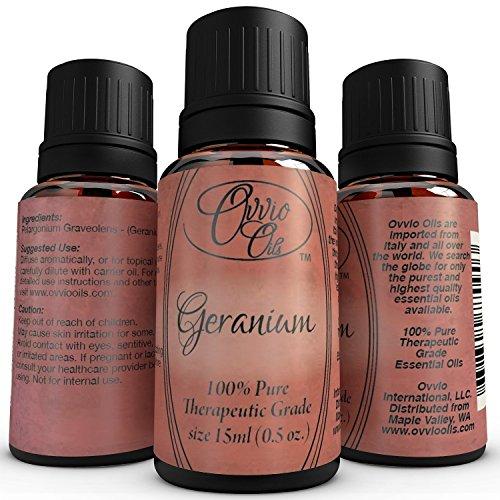 Geranium Oil By Ovvio Egyptian 100 Pure Premium Grade Geranium Rose Essential Oil