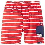 JoJo Maman Bebe Baby-Boys Newborn Swim Shorts, Red/White Stripe, 3-6 Months