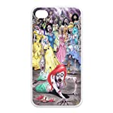 Zombie Disney Princess Little Mermaid Iphone 4,4s Case TPU New Back Case White