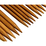 "Carbonized Patina 7"" Double Point Bamboo Knitting Needles 14 Sizes (70 Pieces)"