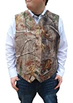 Formal Camo Vest Mens Mossy Oak or Realtree Tux Vest as seen on Duck Dynasty (Realtree All Purpose Vest, L Mens Chest 43-46)