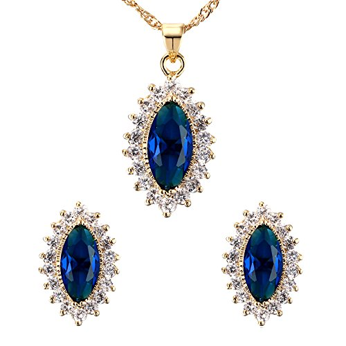 conteverr-ladies-oval-elegant-jewellery-set-blue-artifical-sapphire-pendant-necklace-and-stud-earrin
