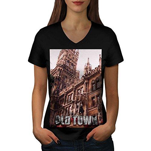beautiful-old-town-structure-women-new-black-s-2xl-v-neck-t-shirt-wellcoda
