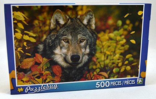 Puzzlebug 500 Piece Puzzle ~ Autumn Gray Wolf