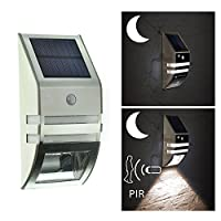 TSSS Solar Outdoor LED Lamp Garden Yard Path Night Light Warm White Wall Light from TSSS