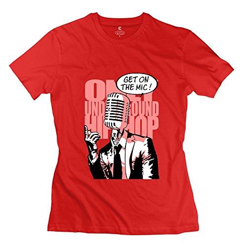 Tgrj Women'S Tee - New Design Get Mic Tshirt Red Size Xl