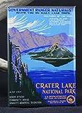 Crater Lake National Park Travel Poster Refrigerator Magnet.