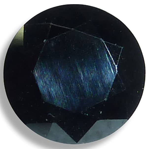 Natural Spinel Black Round Brilliant Loose Unset Gem (7mm) Click for More Sizes (Tamaño: 7mm)