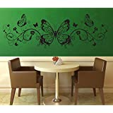 Decal Style ButterFly Swirl Wall Sticker Large Size-41*13 Inch