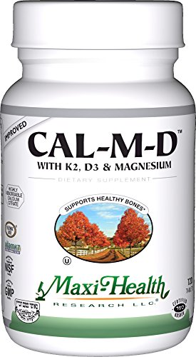 Maxi Health Cal-M-D - Calcium Citrate - with Vitamins K2, D3 and Magnesium , 120 Tablets , Kosher