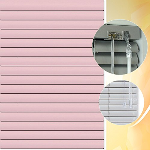 Aluminium Jalousie 110 x 220 cm (Breite x Höhe) – Lamellenfarbe 1408 rosa hell // Maßanfertigung Alu Jalousien Jalousette Rollo Plissee