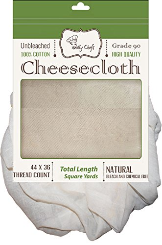 Cheesecloth Unbleached 54 Sq Feet / 6 Sq Yards Grade 90 Filter Butter Muslin Quality for Strainer and Bags